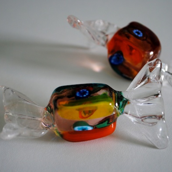 Handmade Glass Square Lolly in Murano Glass