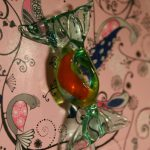 Handmade glass round lolly