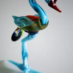 Handmade glass emu using lampworking technique.