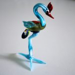 Handmade glass emu