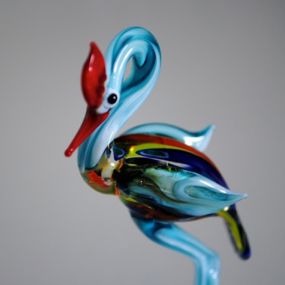 100% handmade Glass Emu in Murano Glass