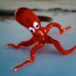 Lampworked glass octopus