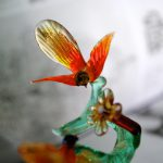 Glass tree with birds and flower handmade in Italy in Murano glass