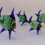 Murano Glass Fishes family